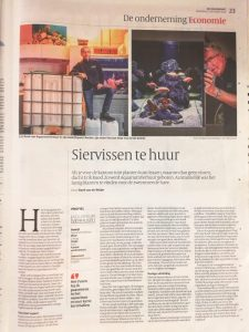 AquariumVerhuur in de Volkskrant